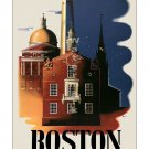Boston - Vintage Travel Poster [4 sizes, matte+glossy avail]
