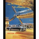 Fly the Rolls Royce Way Vintage Air Travel Poster [4 sizes, matte+glossy avail]