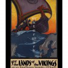 See the Land of the Vikings Vintage Travel Poster [4 sizes, matte+glossy avail]
