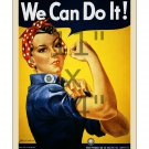 Rosie the Riveter - 11x14 inch Vintage World War II US Propaganda Poster