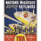TWA Skyliners - 11x17 inch Vintage Airline Travel Poster