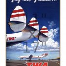 TWA Fly the Finest - 11x17 inch Vintage Airline Travel Poster