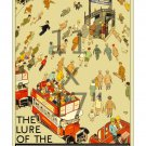 The Lure of the Underground - Vintage London Tube Underground 11x17 inches