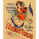 l'Etandard Francais - 11x14 inch Vintage Jules Cheret Art Nouveau Poster Print