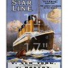 "Titanic White Star Line #2 - 11""x17"" inch Vintage Sailing Notice / Travel Poster"