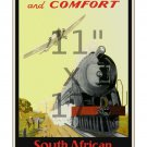 South African Railways & Airways - 11x17 inch Vintage Railroad Travel Poster