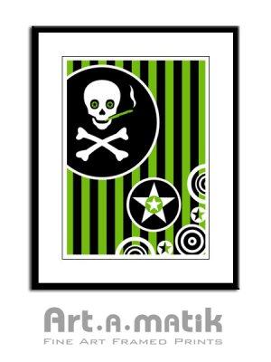 Numb Skull - Artamatik Framed Print
