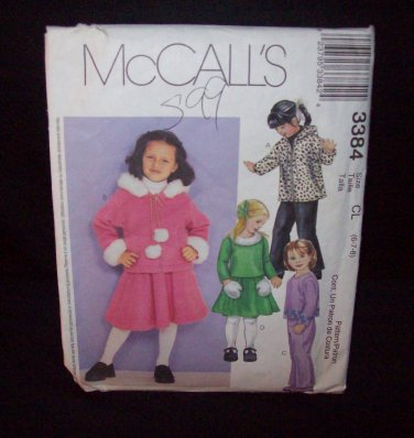 Butterick Pattern #3384  Childrens and girls , jacket, top, pants, skirt, size, (6-7-8)
