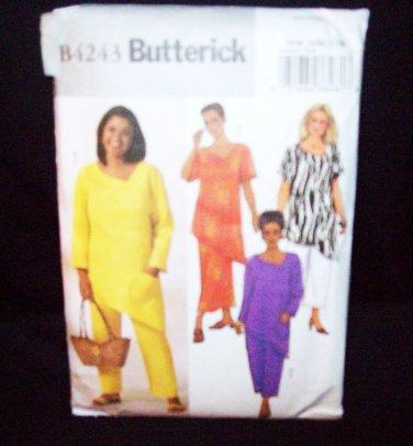 **Butterick Pattern #4243, womens/petite, top, skirt and pants, size 22W, 24W, 26W