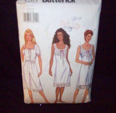 *Butterick Pattern #3263, underwear, misses top, shorts, slip,jumpsuit, loosefitting, size 6, 8, 10