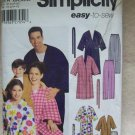 SIMPLICITY  Pattern #5364 Unisex Childs's, Teens and Adults robe and pants