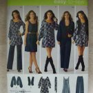 SIMPLICITY Pattern #0500 Pants, dress or mini dress with belt , jacket or vest size 16 - 24