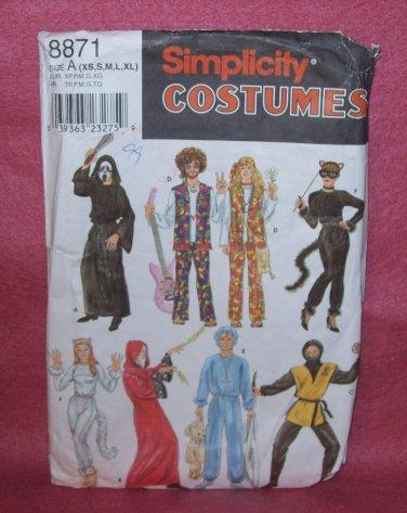 COSTUME Simplicity #8871, Adult, pants, cape, tunic, size xs, s, m, l, xl