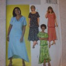 Butterick 4143 size 28w, 30w, 32w, women's /women's petite top and skirt