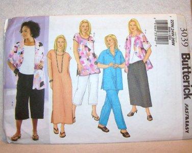 Butterick #3039, size 22w, 24W, 26W , women's /women's petite, shirt, top , tunic, dress,