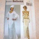 Butterick Pattern #4605,uncut wedding dress,  misses/misses petite top, detachable train,hat