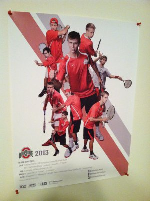 OSU Men's 2013 Tennis Team Poster