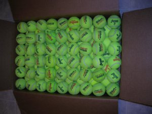 45 Tennis Balls used 1 time during match play