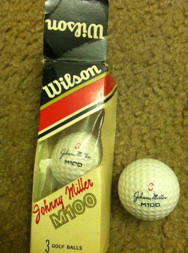 1972 JOHNNY MILLER M100 #3 SIGNATURE LOGO Golf Balls