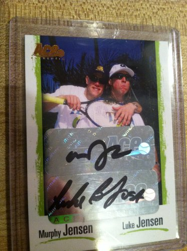 Murphy Jensen and Luke Jensen Tennis Card Auto