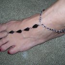 Beach Feet - Black & Clear Crystals - TBM-FT-002 - Per Pair