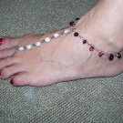 Beach Feet - White & Purple Crystals - TBM-FT-004 - Per Pair