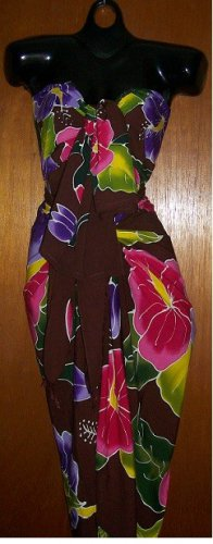 2017 ~ Floral Beach Sarong / Cover-Up - Hand Painted, 2~Piece - Colorful