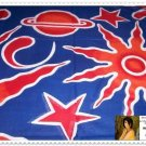 """Mission Space Sarong - 70"""" x 45"""" - Red, White, Blue & Orange"""