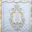 Lions and Crown Parochet White