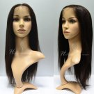 "100% Virgin Brazilian Human Hair Full Lace Wig 20"" (Straight)"