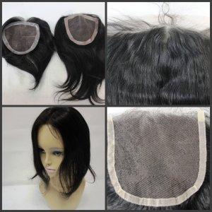 "Brazilian virgin hair Lace Closure 18"" (4 x 4) loose wave"