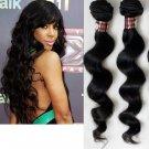 "100% Brazilian Virgin Hair Extensions 16"" loose wave"
