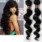 "100% Brazilian Virgin Hair Extensions 20"" loose wave"