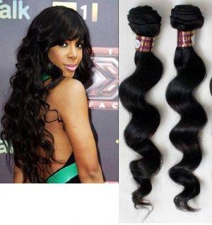 "100% Brazilian Virgin Hair Extensions 20"" loose wave"