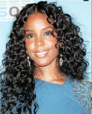 "100% Brazilian Virgin Hair Extensions 18"" curly wave"