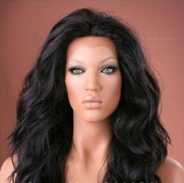 100% Virgin Human Hair Front lace wig cap 24""