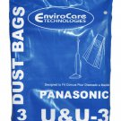 Panasonic U & U-3 Upright Vacuum Bags, 3 Pack