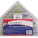 Fons & Porter 3-to-12-Inch Easy Diagonal Sets Ruler