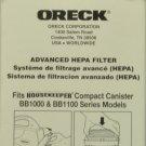 Oreck Canister Vacuum Cleaner Hepa Filter, O-HF1000