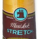 A&E Maxi Lock Stretch Textured Nylon Gold Serger Thread MWN-32072