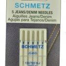 SCHMETZ Jeans/Denim Sewing Machine Needles Size 90/14, 1782