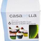 "Casabella Muffin Cups Standard 3"" Silicone Set Of 6"