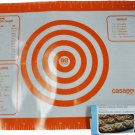 Casabella Baking N Pastry Mat Standard Silicone Orange 16in x 11.75in