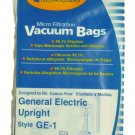 GE Upright Vac Bags, Style GE1, EnviroCare Brand, 3 Pk