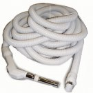 "Central Vacuum Hose 50 Ft 1 3/8"" Low Voltage Hose With Switch-Grey"