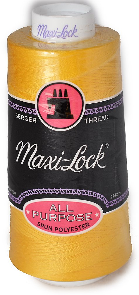 Maxi Lock All Purpose Thread GOLD 3000YD Cone MLT-025