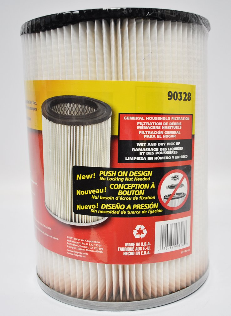 how to clean shop vac dry filter