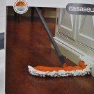 Casabella Microfiber Flip Floor Duster Graphite and Orange