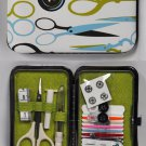 Wallet Style Sewing Kit Scissor and Button Theme Cas