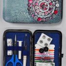 Wallet Style Sewing Kit Button Theme Case